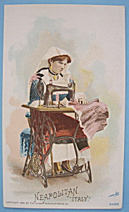 1893 Columbian Exposition Singer Trade Card-Neapolitan (Image1)