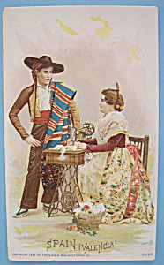 1893 Columbian Exposition Singer Trade Card-Valencia (Image1)