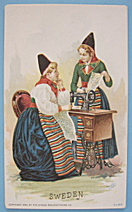 1893 Columbian Exposition Singer Trade Card (2 Girls) (Image1)