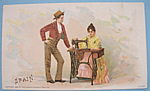 1893 Columbian Exposition Singer Trade Card (Seville) (Image1)