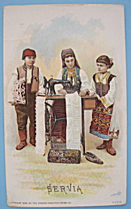 1893 Columbian Expo Singer Trade Card-Group Of Servians (Image1)