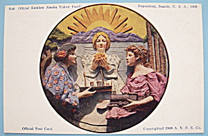 1909 Alaska Yukon Pacific Exposition Postcard-Emblem (Image1)