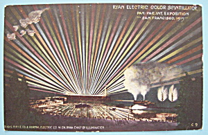 Ryan Electric Color Scintillator Postcard-Panama Expo (Image1)