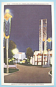 Standard Tower & Ford Bldg Postcard-Calif./Pacific Expo (Image1)