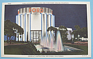 1935 California Pacific Expo Ford Building Postcard (Image1)