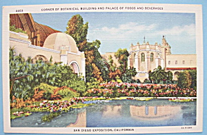 1935 California Pacific Expo Botanical Bldg Postcard (Image1)