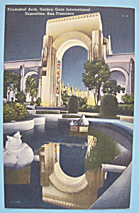 1939 Golden Gate Int Expo Triumphal Arch Postcard (Image1)