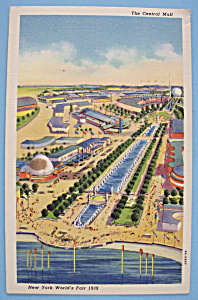 Central Mall Postcard (1939 New York World's Fair) (Image1)