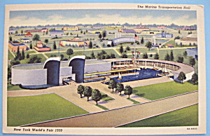 Marine Transportation Hall Postcard (New York Fair) (Image1)