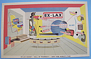 Ex-Lax Exhibit Postcard (1939 New York World's Fair) (Image1)