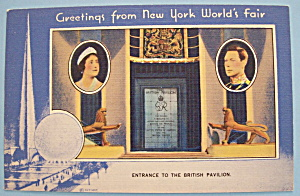 Entrance To British Pavilion Postcard (New York Fair)