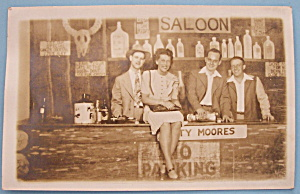 Riverview Park Pic Postcard of People in Saloon Scene (Image1)
