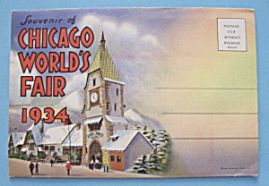 Black Forest Village Postcard Folder-Chicago World Fair (Image1)