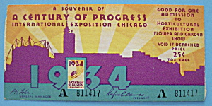 Admission Ticket (1934 Century Of Progress) (Image1)