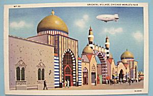 Postcard Of Oriental Village (Chicago World's Fair) (Image1)