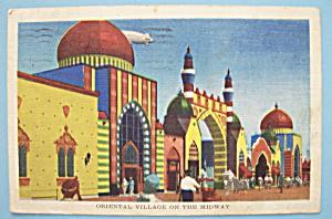 Oriental Village Postcard (Chicago World's Fair) (Image1)