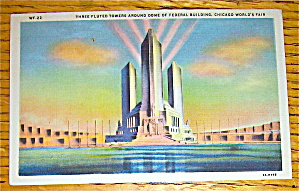 Three Fluted Towers Postcard (Chicago World's Fair) (Image1)