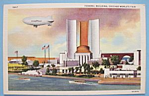 Federal Building Postcard (1933 Century Of Progress) (Image1)