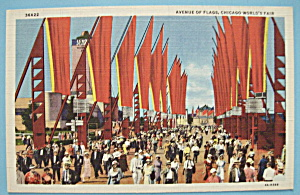 Postcard Of Avenue Of Flags (1933 Century Of Progress) (Image1)