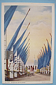 Avenue Of Flags Postcard (Chicago World's Fair) (Image1)