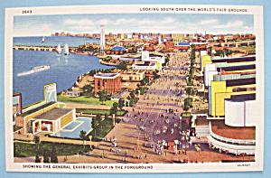 Looking South Over World's Fair Postcard (Chicago Fair) (Image1)