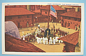 Fort Dearborn-Parade Ground Postcard-Chicago World Fair (Image1)