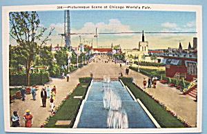 1933 Century Of Progress Chicago World's Fair Postcard (Image1)