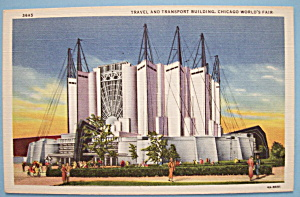 Travel & Transport Building Postcard-Chicago World Fair (Image1)