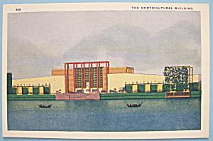 1933 Century Of Progress Horticultural Bldg Postcard (Image1)