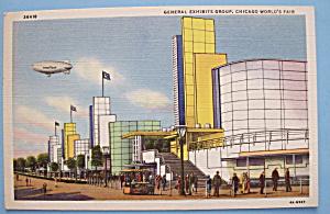 General Exhibits Postcard (1933 Chicago Fair) (Image1)