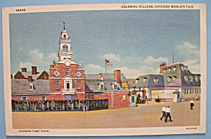Colonial Village Postcard (Chicago World's Fair) (Image1)