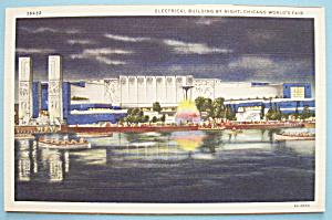 Postcard of Electrical Building By Night (Chicago Fair) (Image1)