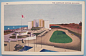 1933 Century Of Progress Chrysler Motors Bldg Postcard (Image1)