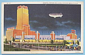General Motors Bldg Postcard (1933 Century Of Progress) (Image1)