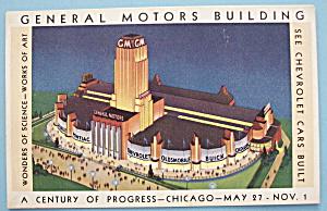 General Motors Bldg Postcard (Chicago World's Fair) (Image1)
