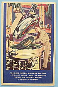1933 Century Of Progress Firestone Postcard (Image1)