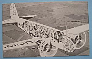 1933 Century Of Progress Air Liner Postcard (Image1)
