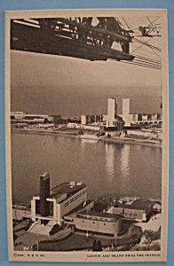 1933 Century Of Progress Lagoon & Island Postcard (Image1)