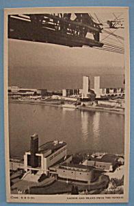 1933 Century Of Progress Lagoon & Island Postcard (Image1)