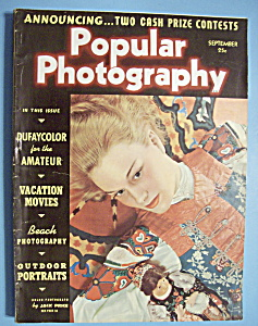 Popular Photography Magazine - September 1938