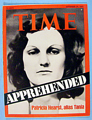 Time Magazine-september 29, 1975-patricia Hearst