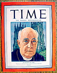 Time Magazine-april 17, 1944-archbishop Of York