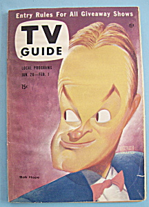 Tv Guide - January 26 - February 1, 1957 - Bob Hope