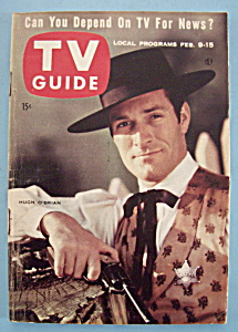Tv Guide - February 9-15, 1957 - Hugh O'brian