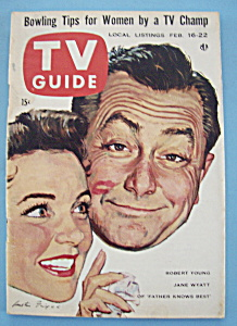 Tv Guide - February 16-22, 1957 - R. Young & J. Wyatt
