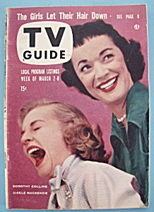 Tv Guide - March 2-8, 1957 - D. Collins & G. Mackenzie