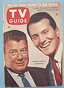 Tv Guide - March 9-15, 1957 - A. Godfrey & P. Boone