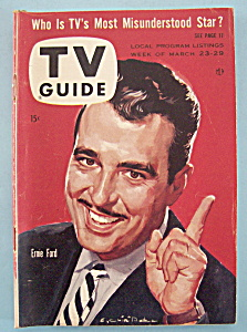 Tv Guide - March 23-29, 1957 - Ernie Ford