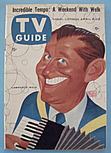 Tv Guide - Aprl 6-12, 1957 - Lawrence Welk