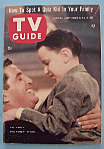 Tv Guide - May 4-10, 1957 - Hal March & Robert Strom
